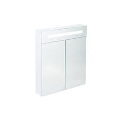 relaxdays Spiegelschrank LED Spiegelschrank mit 2 Türen
