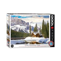 empireposter Puzzle Winter im Yoho National Park, British Columbia - 1000 Teile Puzzle Format 68x48 cm, 1000 Puzzleteile