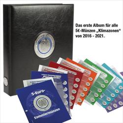 Münzenalbum 5 Euromünzen Klimazonen