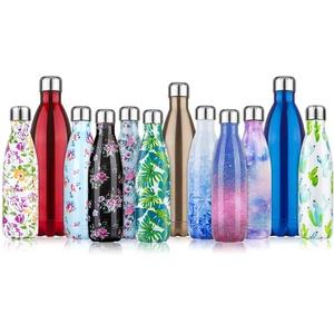 Trinkflasche Edelstahl Vakuum Isolierte Wasserflasche 350ml/500ml/750ml/1000ml - Premium Thermosflasche Isolierflasche 24 Std. Kalt und 12 Std. Heiß für Sport, Fitness, Fahrrad, Outdoor, Camping