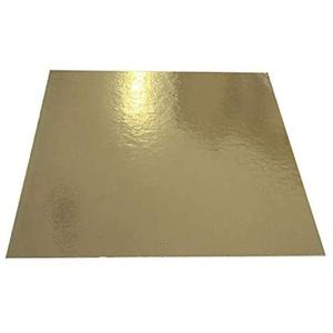 Tortenunterlage/Tortenuntersetzer Gold 24x24 cm 10 STK.