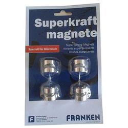 4 FRANKEN   Magnethaken silber 1,6 x 1,6 cm