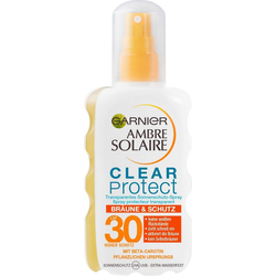 GARNIER Sonnenschutzspray Clear Protect Bräune & Schutz, transparentes Sonnenschutz-Spray LSF 30
