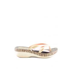 Grendha Damen Flip Flop Sandalen creme / braun, Größe 35,5, 5396989