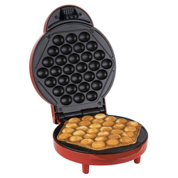 KORONA Waffeleisen Bubble-Maker 41005, 1000 W, Waffelautomat, Waffeleisen, 18 cm Durchmesser, für besonders luftige Eierwaffeln, 1000 Watt, rot