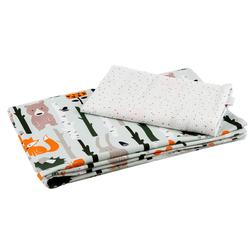 Kinderbettwäsche 100 x135 cm Babybettwäsche Kinderbettwäsche Bettwä, Divita-Mode grün