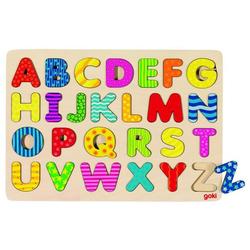 Goki Alphabetpuzzle, Großbuchstaben aus Holz