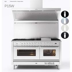 Professional Plus P15 - 150 cm Gasherd - Doppelbackofen - bis zu 9 Flammen