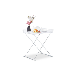 relaxdays Tabletttisch Tabletttisch Acryl Chrom-Optik