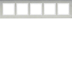Berker 10253609 ,Rahmen 5fach waag E-St B.7 E-St/pw