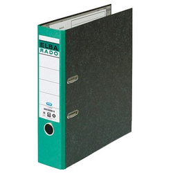 ELBA rado Wolkenmarmor Ordner grün marmoriert Karton 8,0 cm DIN A4