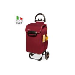 linovum Einkaufstrolley Einkaufstrolley HIMY XL bordeaux rot Einkaufswagen 78L Fassung & Seitentaschen