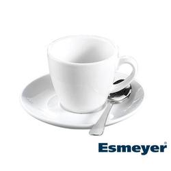Espresso-Tasse - Inhalt 0,10 ltr - mit Untertasse - Form BISTRO - UNI WEISS -