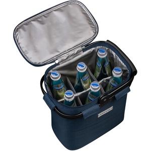 Flaschenträger für 6 Flaschen mit Kühlfunktion - blau - Blau