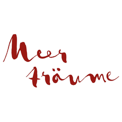 dekodino Wandtattoo Meerträume (1 Stück) rot 200.00 cm x 110.00 cm