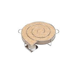 riijk Räucherbox Räucherschnecke Kaltrauchschnecke silber rund – Sparbrand für Smoker, Grill oder Räucherofen Kaltrauchgenerator eckig, Kaltraucherzeuger, Räucherspirale für Räucherspäne 20 cm x 4 cm x 20 cm