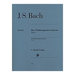 Das Wohltemperierte Klavier  ohne Fingersätze: 1 Bach  Johann Sebastian - Das Wohltemperierte Klavier Teil I BWV 846-869. Johann Sebastian Bach  - Buch