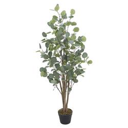 Kunstpflanze Eukalyptusbaum Eukalyptus Kunstbaum Künstliche Pflanze Echtholz 120 cm Decovego, Decovego