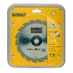 DeWalt Kreissägeblatt (1-St), Handkreissägeblatt DT1142 Holz Kreissäge Blatt Ø 160mm Sägeblatt Werkzeug