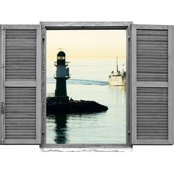 Wandtattoo »Leuchtturm« (1 Stück), Wandtattoos, 65210420-0 grau 80x0,1x60 cm grau