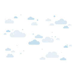 lovely label Wandsticker Wolken blau