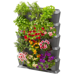 GARDENA Pflanzkübel NatureUp!, 13151-20, Set-Vertikal mit Bewässerung