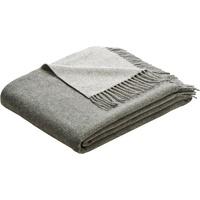 Biederlack Plaid Soft Impression, im Doubleface-Look grau 130 cm