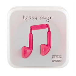 Happy Plugs Headset für Apple iPhone in kirschrot Smartphone-Headset