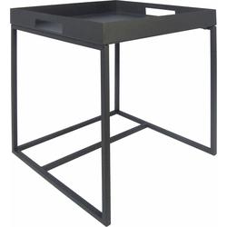 andas Beistelltisch, mit abnehmbarem Tablett grau Beistelltische Tische Beistelltisch