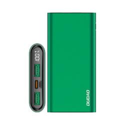 Dudao Dudao Power Bank 10000 mAh Power Delivery 20 W Quick Charge 3.0 2x USB / USB Typ C Schnellladegerät Powerbank grün