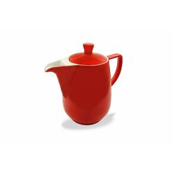 Friesland Porzellan Kaffeekanne Friesland Kaffeekanne 0,6l Rot Porzellan, 0,6 l