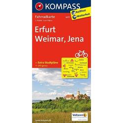 Erfurt - Weimar - Jena 1 : 70 000 - Fahrradkarten