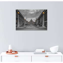 Posterlounge Wandbild, Rom Straße Petersplatz 91 cm x 61 cm