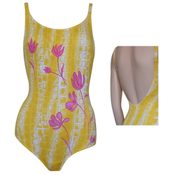 ELEMAR Badeanzug, eleMar Damen Bademode Badeanzüge Badeanzug Schwimmanzug Sommer gelb 38