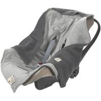 Lässig Einschlagdecke Babyschale mint, Lässig grau