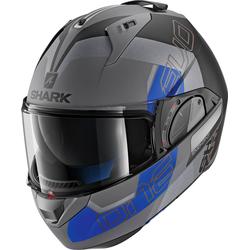 Shark Evo-One 2 Slasher, Modularhelm - Matt Grau/Schwarz/Blau - XS