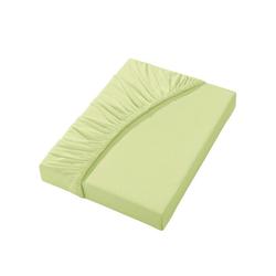 Irisette Spannbettlaken grün 90-100 cm x 190-200 cm