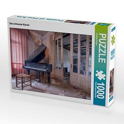 Das schwarze Klavier Lege-Größe 64 x 48 cm Foto-Puzzle Bild von Christian Ringer   www.christianringer.com Puzzle