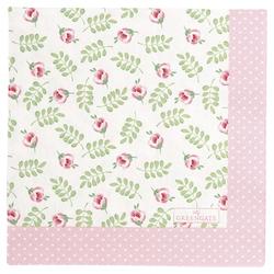 Greengate Serviette Lily klein 20er-Pack 33x33 cm weiß