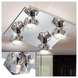 Esto Deckenleuchte, Kristallglas Deckenleuchte Wohnzimmerlampe Deckenlampe ICE CUBE Cromo DL 300x300