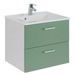 Waschtisch in Grün und Weiß 60 cm breit