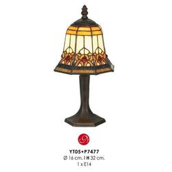 Tiffany Tischleuchte Durchmesser 16 cm, Höhe 32 cm Leuchte Lampe