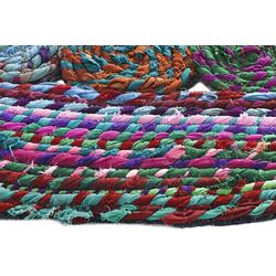 Teppich von Hand gewebt bunt ca. 100/100 cm, quadratisch