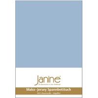 JANINE Bettwäsche Jersey Jersey-Spannbetttuch perlblau 5007-32 150x200