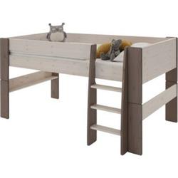 Molly Kids Kiefer Kinderbett 90x200 Kinderzimmer Holz Bett Einzelbett weiss