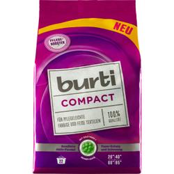 burti Compact Colorwaschpulver, Pulverförmiges Waschpulver für pflegeleichte, farbige und feine Textilien, 1 Packung = 1,1 kg, für 18 Waschladungen