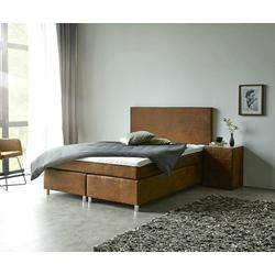 DELIFE Boxspring-bed Cloud 140x200 cm bruin Topper en matras, Bedden