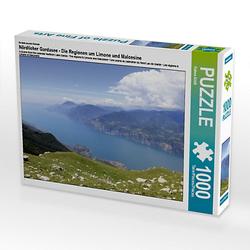 Nördlicher Gardasee - Die Regionen um Limone und Malcesine Lege-Größe 64 x 48 cm Foto-Puzzle Bild von flybluehigh Puzzle