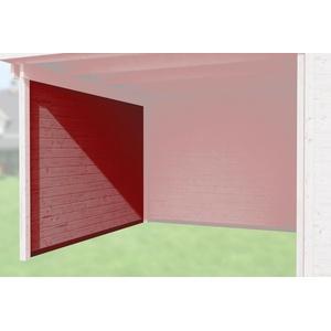 Weka Zubehör für Weka Designhaus 172 und 126 Seitenwand Tiefe 235 cm rot 21 mm