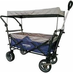 Outdoor active Outdoor active Bollerwagen blau/grau mit Dach und Schubstange